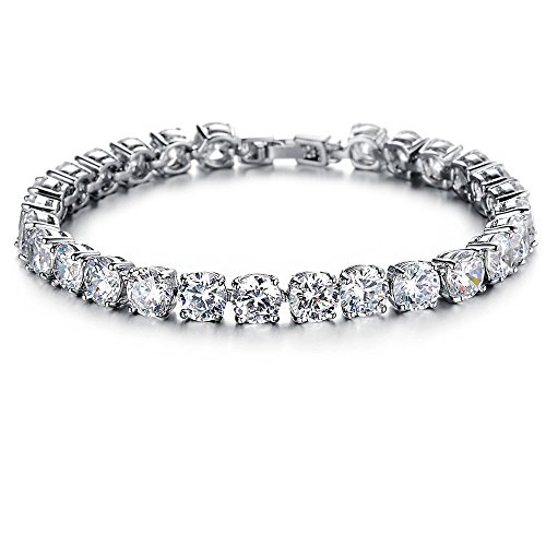 [GirL Era Bling Bling Diamond-Cut Gem Round Bracelets Charm Tennis Bracelet(w)] (Firefly Kids Costumes)