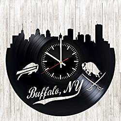 Buffalo Bills Vinyl Wall Clock Living Room Home Decor