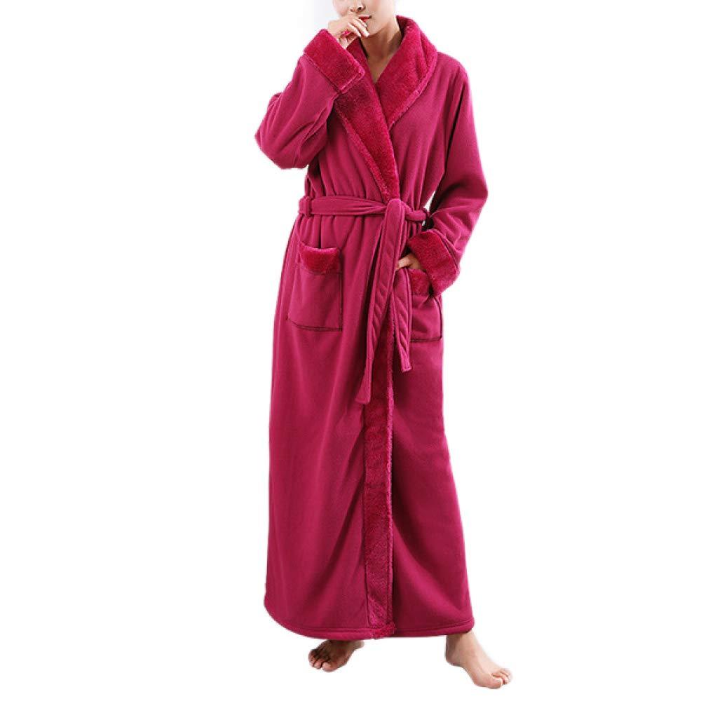 Damen Weichen Gemütlichen Morgenmantel Winter Luxus Flanell Robe Langarm Warme Pyjamas In Voller Länge Paar Bademantel Robe Geschenk