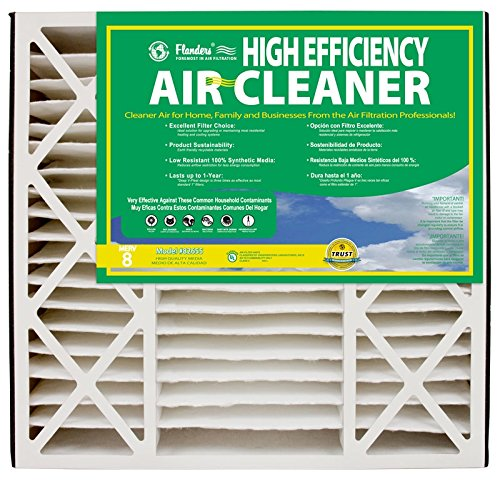 NaturalAire High Efficiency Air Filter, MERV 8, 16 x 25 x 4.5-Inch, 2-Pack