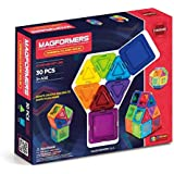 Magformers Basic Rainbow Clear Solid (30-pieces) Set Magnetic    Building      Blocks, Educational  Magnetic    Tiles Kit , Magnetic    Construction  STEM Toy Set
