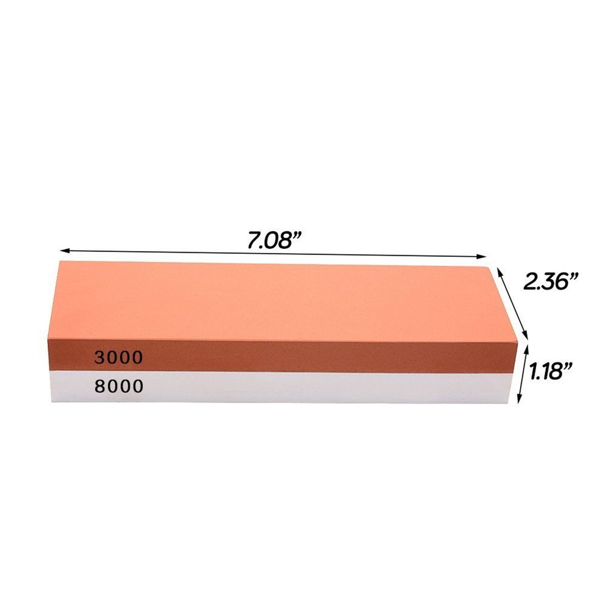 Whetstone — Lupan Double-Sided Knife Sharpening Stone Grit with sturdy non-slip rubber Base (3000/8000) by Lupan (Image #2)