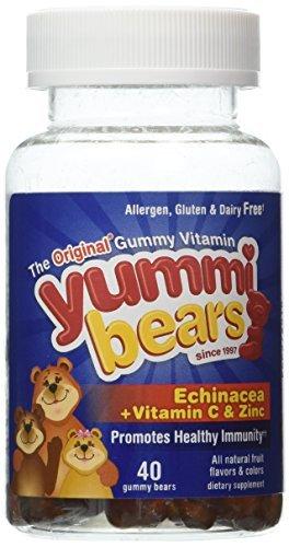 Yummi Vitamins Echinacea Bears (Yummi Bears (Hero Nutritional Products) Yummi Bears Echinacea with Vitamin C and Zinc, 40 Bears by Yummi Bears (Hero Nutritional Products))