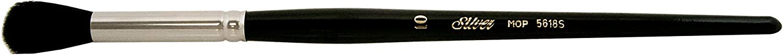 Silver Brush 5618S-10 Silver Mop Short Handle Blender Brush, Black, Round, Size 10