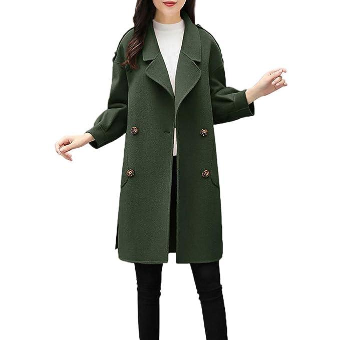 ZORE Women Coat Las Mujeres de otoño Chaqueta de Invierno Casual Outwear Cardigan Chaqueta Slim Coat Abrigo: Amazon.es: Ropa y accesorios