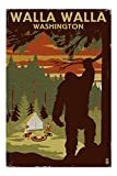 Walla Walla, Washington - Home of Bigfoot (20x30 Premium 1000 Piece Jigsaw Puzzle, Made in USA!)