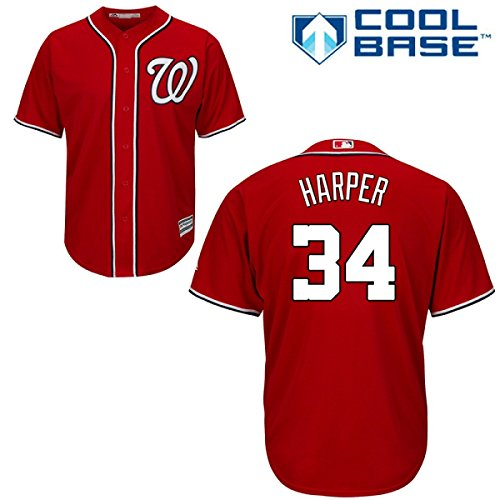 picture of Bryce Harper Washington Nationals Alternate Red Replica Cool Base Jersey by Majestic Select Size: Medium