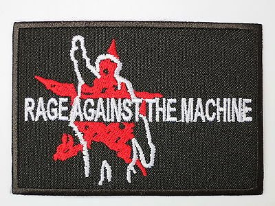 """RAGE AGAINST THE MACHINE Logo Iron On Sew On Embroidered PatchApprox: 3.2""""8.4cm x Approx: 2.2""""/6cm By MNC Shop"""
