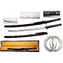 New Handmade Battle Ready Razor Sharp Japanese Fighting Samurai War Lord Warrior Miyamoto Musashi Wakizashi Katana Sword
