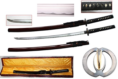 New Handmade Battle Ready Razor Sharp Japanese Fighting Samurai War Lord Warrior Miyamoto Musashi Wakizashi Katana Sword