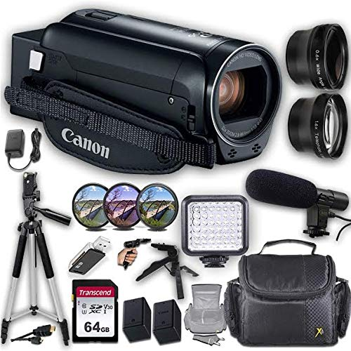 Canon VIXIA HF R800 Camcorder + Professional Video Accessory Bundle