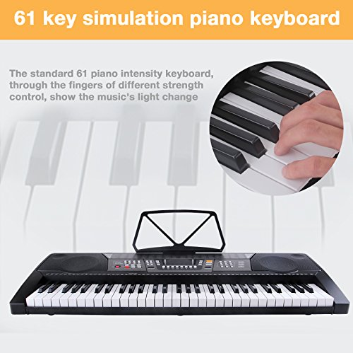 LAGRIMA Electric Piano Keyboard 61 key Keyboard Music Piano Portable