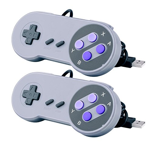 SNES Classic Controllers, Prodico Super Nintendo SNES Game Controller Gamepad for Nintendo SNES Classic and Windows PC/MAC(Pack of 2)