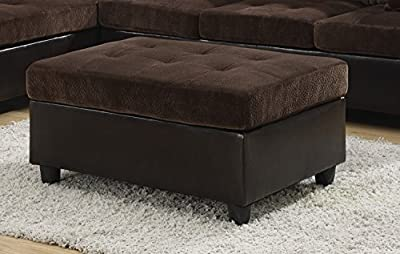 Coaster Home Furnishings 505646 Casual Ottoman, Chocolate
