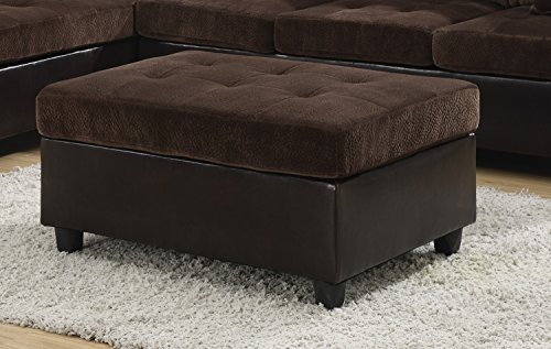 Coaster Home Furnishings 505646 Casual Ottoman, (Brown Microfiber Storage)