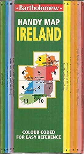 Map Of Ireland Book.Handy Map Of Ireland Bartholomew Firm 9780702830716 Amazon Com