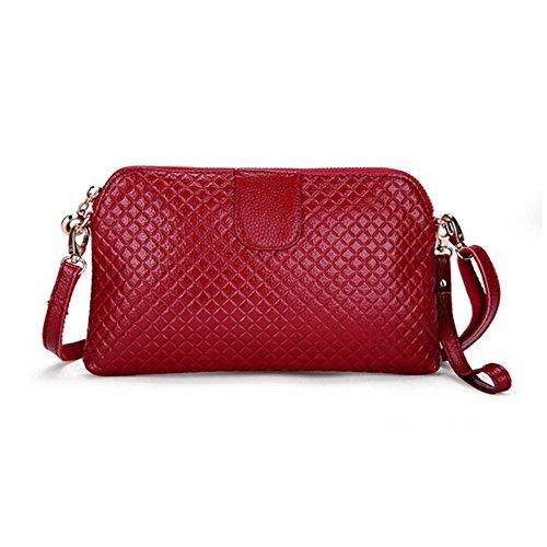 Eysee - Cartera de mano para mujer Rojo marrón 25cm*14.5cm*2cm granate (Wine red)