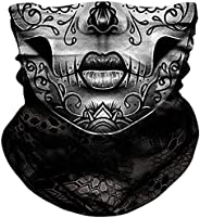 NTBOKW Skull Mask Half Face Mask Bandana for Sun Dust Wind Protection Mask for Riding Motorcycle Cycling Fishi