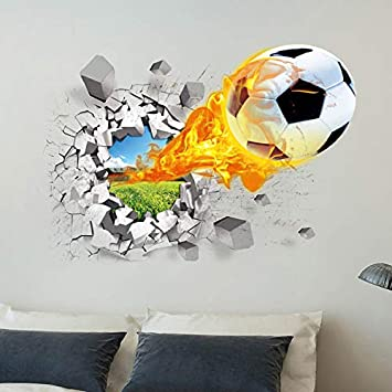 GaoXiao 3D Football Muro Adesivi Basket Muro Adesivi Creativo a casa Decorazione Muro Adesivi, Il Basket