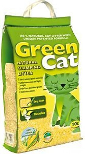 Green Cat Natural Clumping Cat Litter - 20 Litres