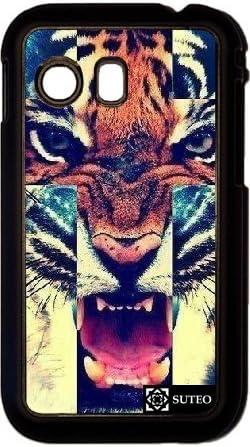 Coque Samsung Galaxy Y S5360 – Tiger Roar Cross Hipster: Amazon.fr ...