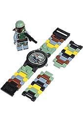 LEGO Kids' 9003363 Star Wars Boba Fett Watch with Link Bracelet and Figurine