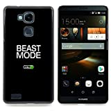 Beast Mode Exercise Rogan Black Text Designed Hard Plastic Protective Case King Case For HUAWEI Ascend Mate 7