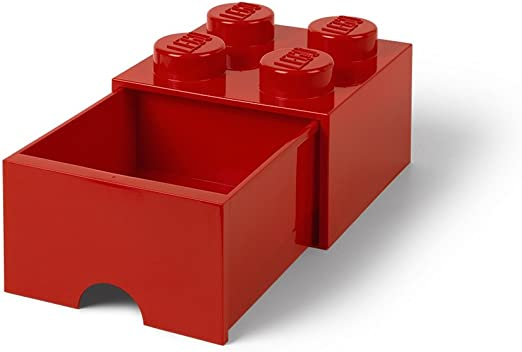 LEGO 4 x Minifigure Kitchen Bedroom Cupboard Container Red with White Door