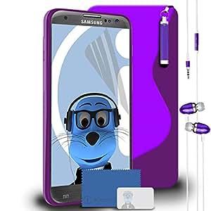 La forma iTALKonline mate y brillo Samsung i9305 Galaxy S3 III de la línea de protectora de piel de onda en forma de S de Gel Base de diseño con motivos geométricos de juego de carcasas de abrir y cerrar la tapa de protectores de pantalla LCD de piel sintética con de 3 capas para, punzón para limpiar bordes de-salto de obstáculos lápiz táctil de tamaño pequeño lápiz y ranura para 3,5 mm de audio estéreo la función manos libres del auriculares de diadema cerrados con Mic