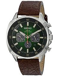 Seiko Men's SSC513 Analog Display Japanese Quartz Brown Watch