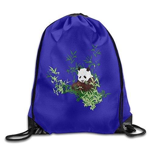 Travel Drawstring Backpacks Pandas Fashion Durable Polyester Drawstring Sports Fan Sackpack Bags For Shoes from KJHNIP