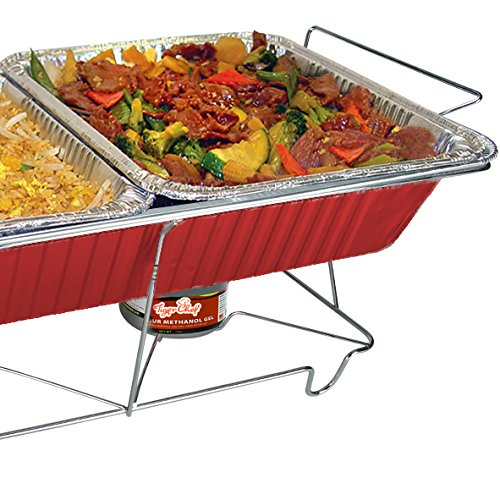 TigerChef TC-20539 Buffet Chafer Food Warmer Chrome Wire Frame Stand, Full Size (Pack of 6) by Tiger Chef (Image #2)