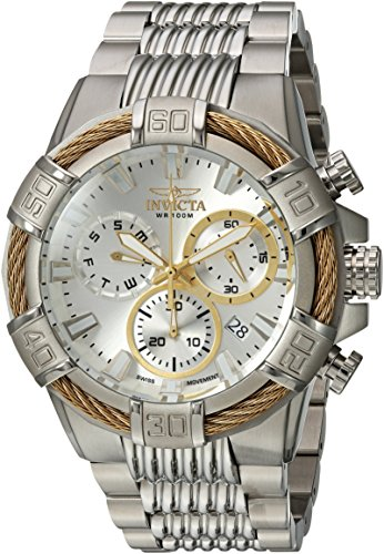 Invicta Men's 'Bolt' Quartz Stainless Steel Casual Watch, Color:Silver-Toned (Model: 25863) ()