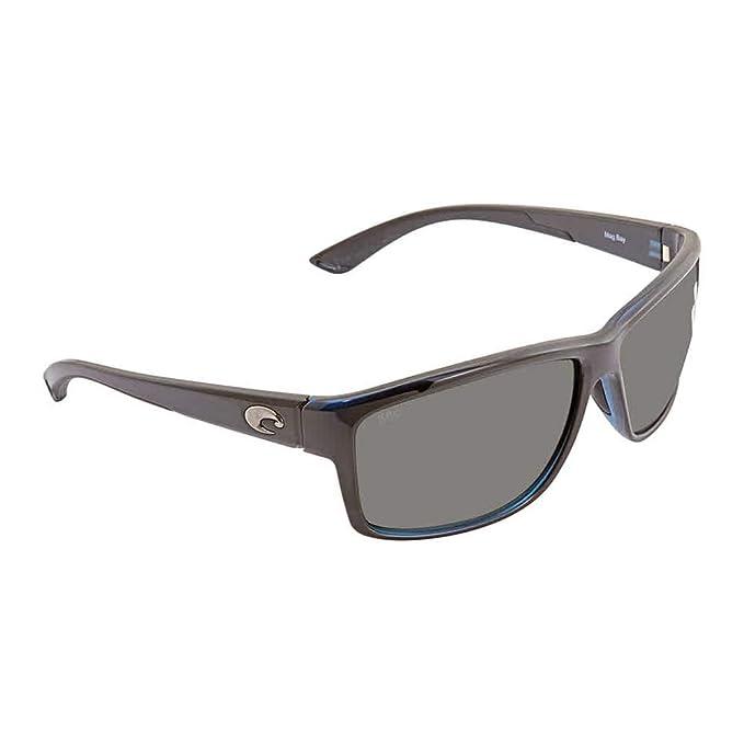 0e4ef38e5fc7 Amazon.com: Costa Mag Bay, Gray Glass 580G, Shiny Black Frame ...
