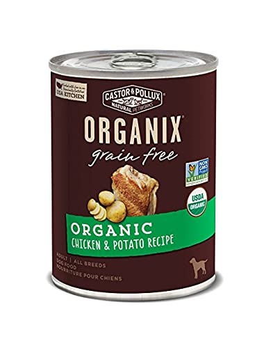 Castor & Pollux Organix Grain Free Organic Chicken & Potato Recipe Wet Dog Food, 12.7 Oz., Case Of 12 Cans