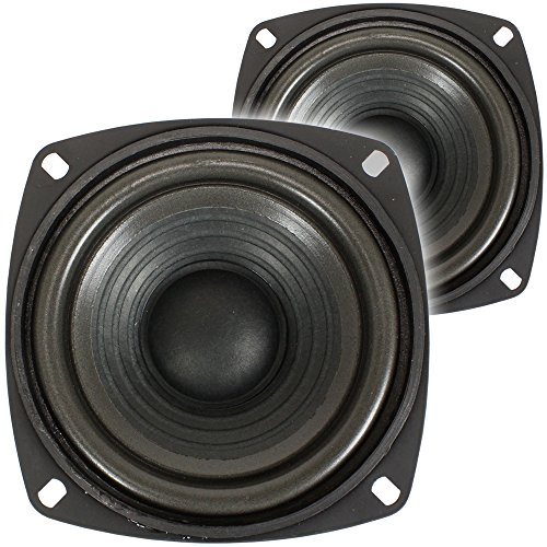 2x Monacor SP-60/8 4' Midrange Speaker Drivers 120W
