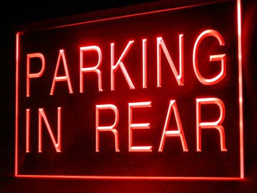 - Parking in Rear Car Park Led Light Sign