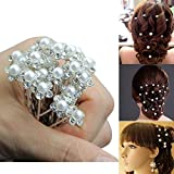 20pcs Wedding Bridal Pearl Clips, Marrywindix Flower Crystal Hair Pins Hair Clips Bridesmaid