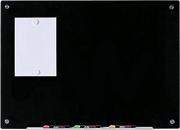 Pizarra Negro Magnético de Borrado en Seco de Vidrio - 60 cm ...