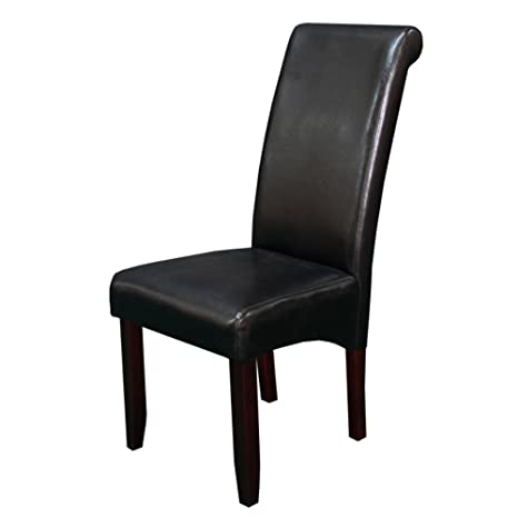 Miraculous Monsoon Pacific Milan Faux Leather Dining Chairs Black Pabps2019 Chair Design Images Pabps2019Com