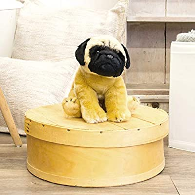 Nat and Jules Standing Large Pug Dog Children's Plush Stuffed Animal Toy: Baby