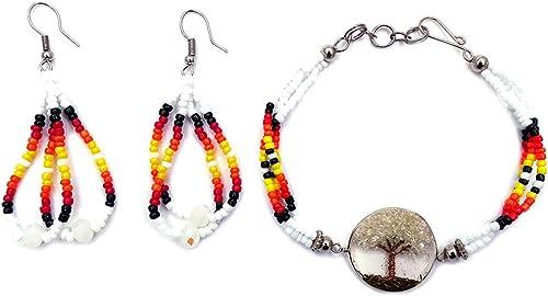 Teardrop Stone Crystal Bead Dangle Earrings