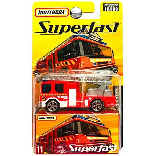 - Matchbox 2005 Superfast Dennis Sabre Fire Engine Fire Truck Ladder Red #11