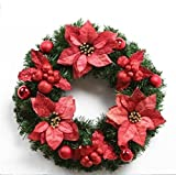 XUEXIN 50/60cm Christmas decorations Christmas Wreath ornaments hotel gift store props the window layout supplies creative gifts , red 50cm