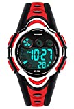 Kids Digital Watch - Girls Sports Waterproof Watch,Wrist Watches with Alarm Stopwatch for Youth Childrens RED