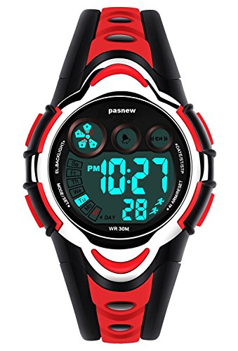 Kids Digital Watch - Girls Sports Waterproof Watch,Wrist Watches with Alarm Stopwatch for Youth Childrens RED by New Brand Mall