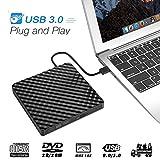Ploveyy External DVD Drive CD Drive, USB 3.0 CD Player for Laptop DVD Burner & RW Writer for Laptop, Desktop & Macbook, Mac OS and Windows 7/8/10 (Black)