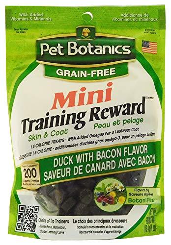 Pet Botanics Mini Training Rewards Grain-Free Duck with Bacon Treats for Dogs (1 Pouch), 4 (Healthy Coat Liver Treats)
