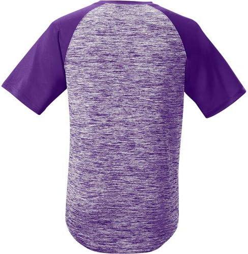 Purple Medium EvoShield Adult E304 Performance Pullover Tech Tee