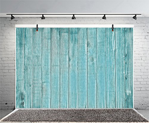 Leyiyi Vintage Blue Wooden Wall Backdrop 6x4ft Photography Background Stained Grunge Shabby Chic Wooden Textured Wall Punk Culture Party Children Baby Hip-hop Boy Girl Portraits Props